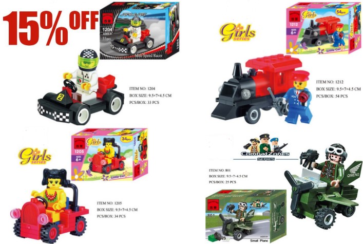 High quality Kart racing car kids corner productions Girls series Combat Zones series building blocks kids gifts