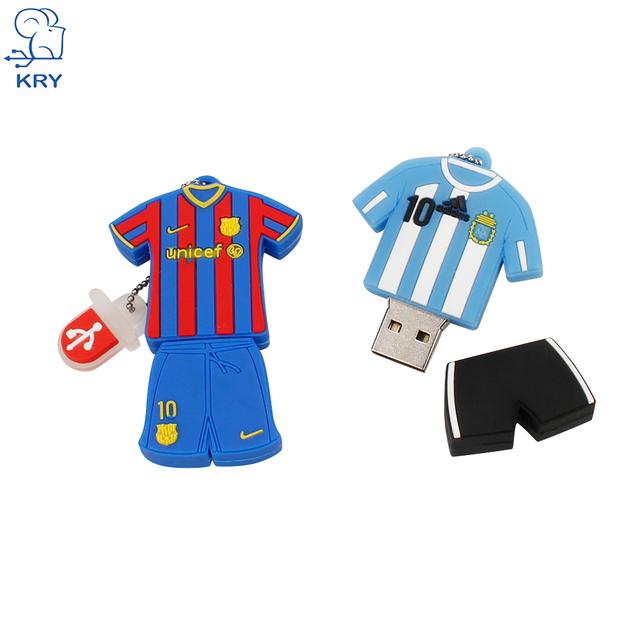 Barcelona Messi pendrive 32gb 2.0 usb flash drive 64gb Football player Jersey pen drive memory stick 4gb 8GB 16gb usb disk 128gb