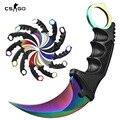 Desaparecer Counter Strike CS IR Faca Karambit Garra garra artesanal tático Combate Karambit facas de caça ferramentas de sobrevivência ao ar livre