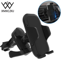 XMXCZKJ-soporte de teléfono móvil con sistema de ventilación para coche, Clip de teléfono inteligente con bloqueo automático, rotación de 360 grados, nuevo