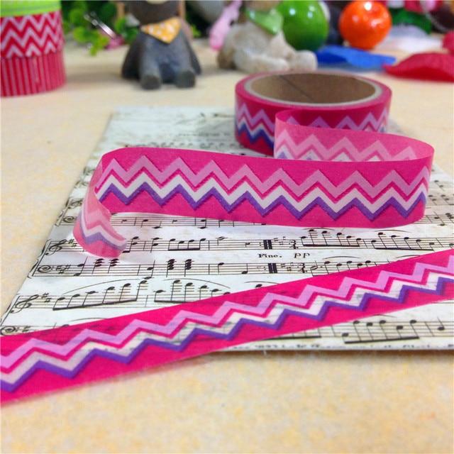 Envío Gratis cinta washi encantadora/15mm * 5 m * 2 rollos de cinta diy/línea de 3 colores adhesiva de cinta de papel