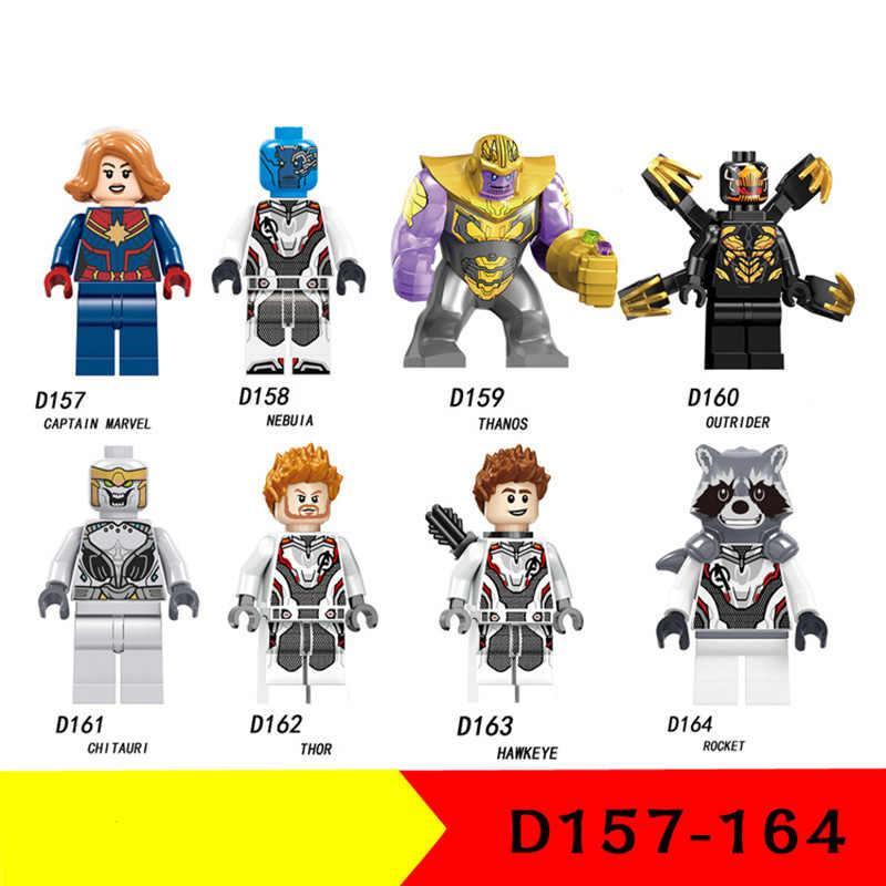 Nuovo LegoINGlys Avengers 4 Endgame Thanos Thor Rocket Raccoon Macchina da Guerra Black Widow Building Blocks Giocattoli per il Regalo Dei Bambini