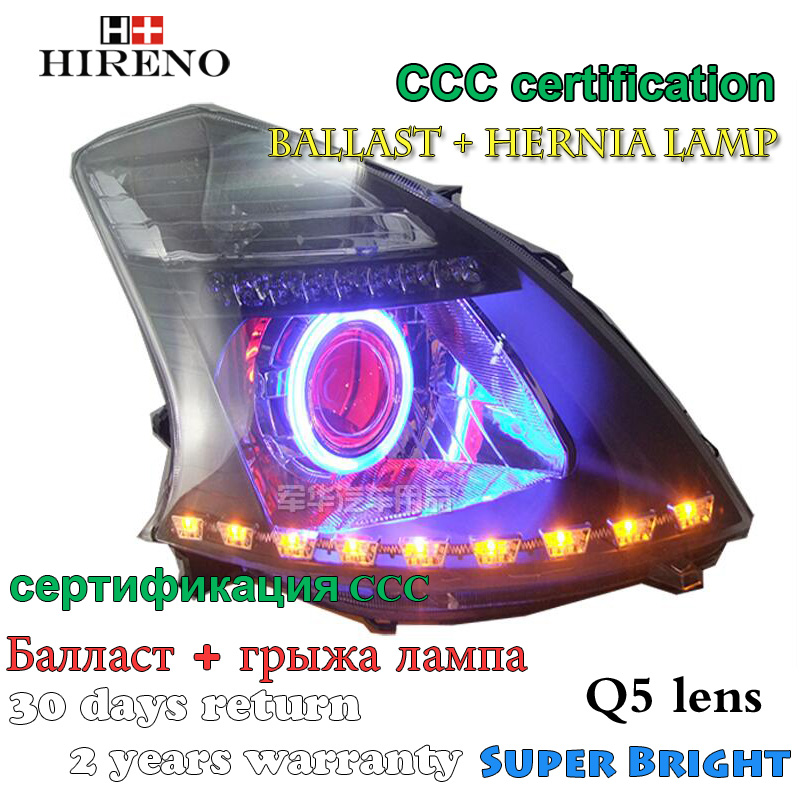Hireno Modified Headlamp for Great Wall FLORID 2008-2009 Headlight Assembly Car styling Angel Lens Beam HID Xenon 2 pcs