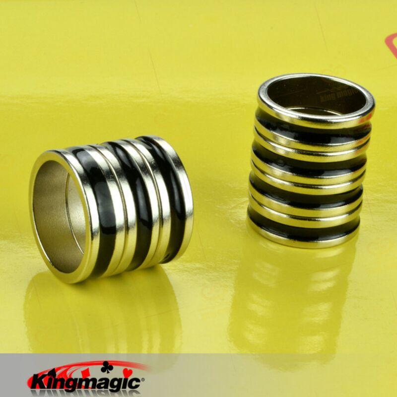 Free Shipping! PK Ring Dual Black Line / Black PK Ring/ Magic Toys /magic Tricks/ Magic Props