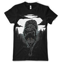 wilderness wolf animal moon forest tshirt teeNew T Shirts Funny Tops Tee New Unisex Print Shirt Mens Short Sleeve