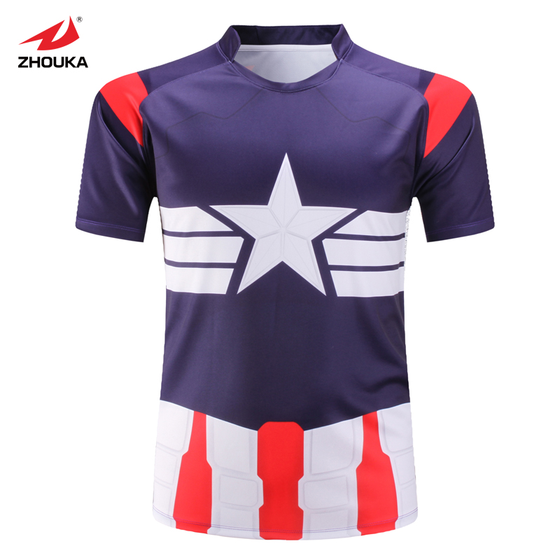 Full Sublimation Printing Colorful Pattern American Football Custom  Personalized Rugby France Design Men s Rugby Jersey 38d6dc12c