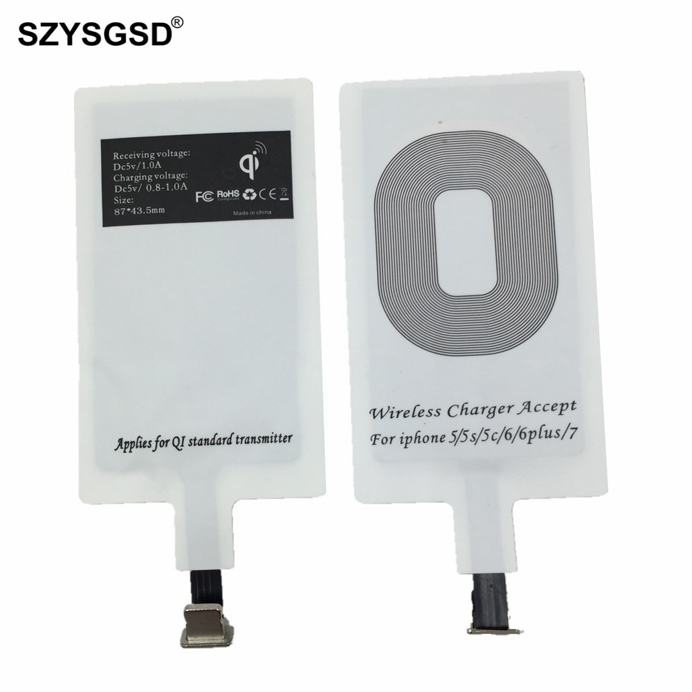 szysgsd for mobile phone qi wireless charger receiver. Black Bedroom Furniture Sets. Home Design Ideas