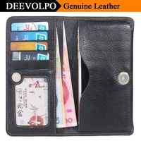 DEEVOLPO 100 Genuine Leather Universal Phone Bag 3 5 To 6 0 For Samsung S8 S7