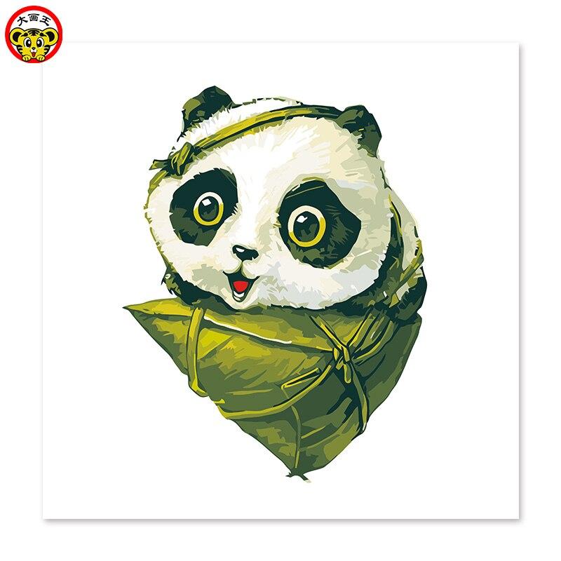 Painting By Numbers Art Paint By Number Cute Panda Dumplings Draw On