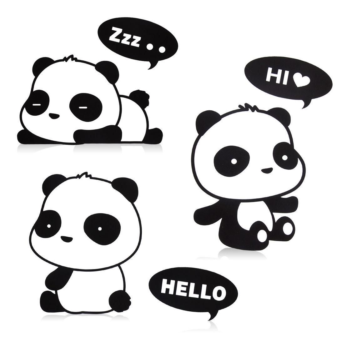 3Pcs Fashion Panda DIY Switch Sticker Notebook Stickers Vinyl Mural Decor Decals PCs