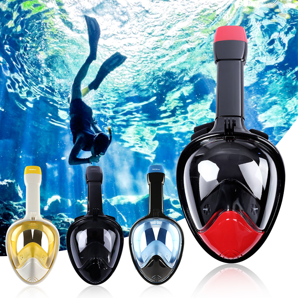Full Face Snorkeling Mask Set Diving Underwater Swimming Training Scuba Mergulho Snorkeling Mask For Gopro Camera super quality full face diving mask liquid silicone spearfishing mask snorkeling equipment scuba masks m246
