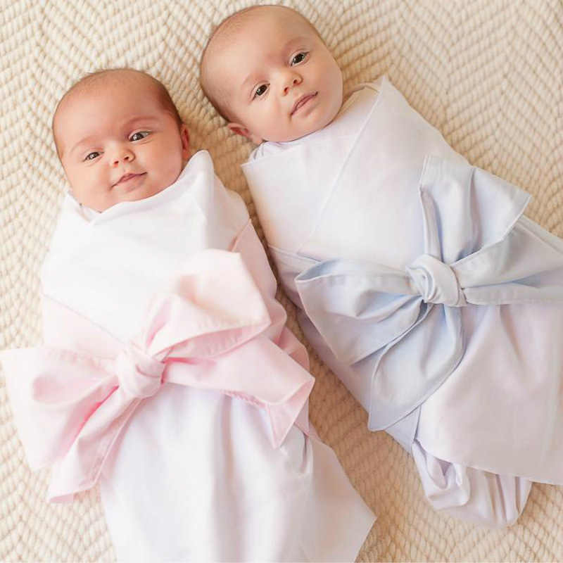 Baby Blankets Newborn Seersucker Blanket Bow Swaddle Soft Newborn Baby Bath Towel Multi Functions Baby Wrap Kids Bed Sheet