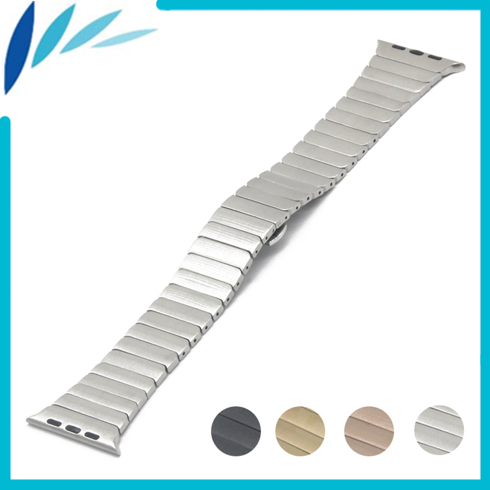 Stainless Steel Watchband for iWatch Apple Watch / Sport / Edittion 38mm 42mm Butterfly Buckle Strap Band Wrist Belt Bracelet wristband silicone bands for apple watch 42mm sport strap replacement for iwatch band 38mm classic stainless steel buckle clock