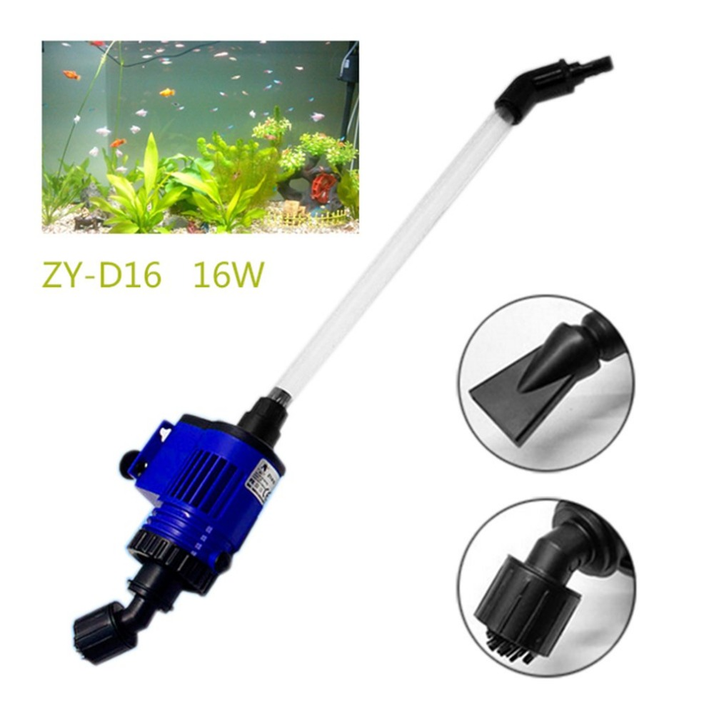 Aquarium Water Changer Powerful Suction Fish Feces Cleaner Pump Electric Syphon Auto Home Vacuum Fish Tank Sand Washer