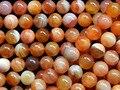 Frete Grátis Natural 10mm Red Carnelian Contas Redondas Soltas DIY Semi-colar de pedras preciosas Atacado