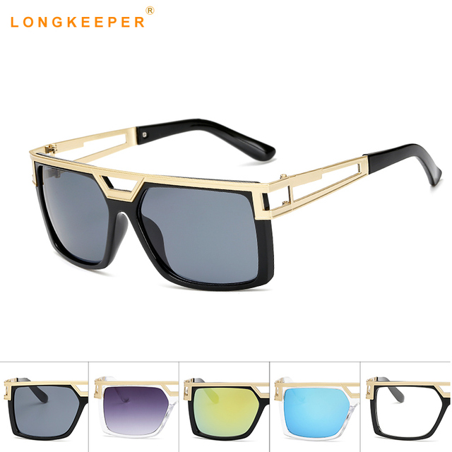 bf012155c6f5 Fashion Classic Sunglasses Women Men Square Clear Sun Glasses Men Retro  Glasses Coating Points Black Frame Eyewear