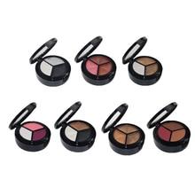 3 Colors Women Eye Shadow Palette Smokey Matte Shadow Palette Waterproof Glitter Eyeshadow Makeup Cosmetics Tools Eyeshadow