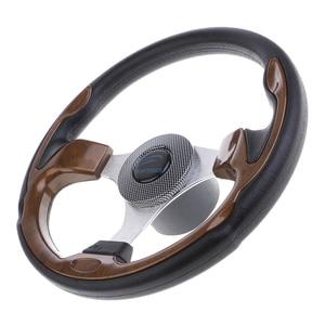 Image 2 - 320mm Aluminum Alloy Marine Boat Pontoon Steering Wheel 3 Spoke 3/4 Boat Parts & Accessories Marine Hardware