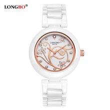 Watch Women 2018 Ladies Designer Watches LONGBO Luxury Brand Elegant Ceramic Strap Quartz-Watch Relogio Feminino Gift