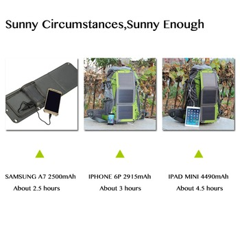 New! Hiking Solar Backpack Outdoor Mountaineering bags 10W Detachable Solar Panel For Powerbank Camera Camping Travel Knapsack 1