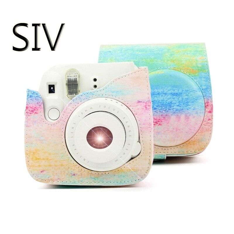 SIV Caméra Sac PU En Cuir Film Caméra Sac de Poche De Couverture Cas Pour Fujifilm