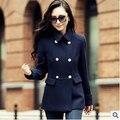Mulheres jaqueta moda Outono novo longa seção Coreana de lã casaco feminino casaco frete grátis