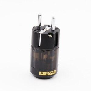 Image 1 - 1 pair X Hifi audio Brass P 004E +puer copper C 004   Rhodium Plated EU Schuko AC Power Plug  extension adapter