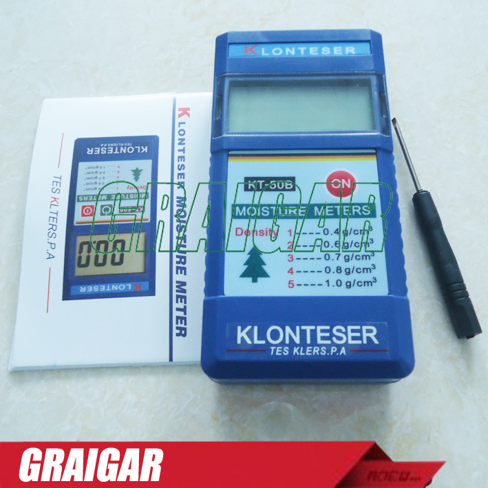 Free shipping KT-50B digital inductive paper wood tree timber moisture meter,measuring range:2~90%, 0.1 Accuracy digital inductive wood moisture meter redwood timber range 0 100%