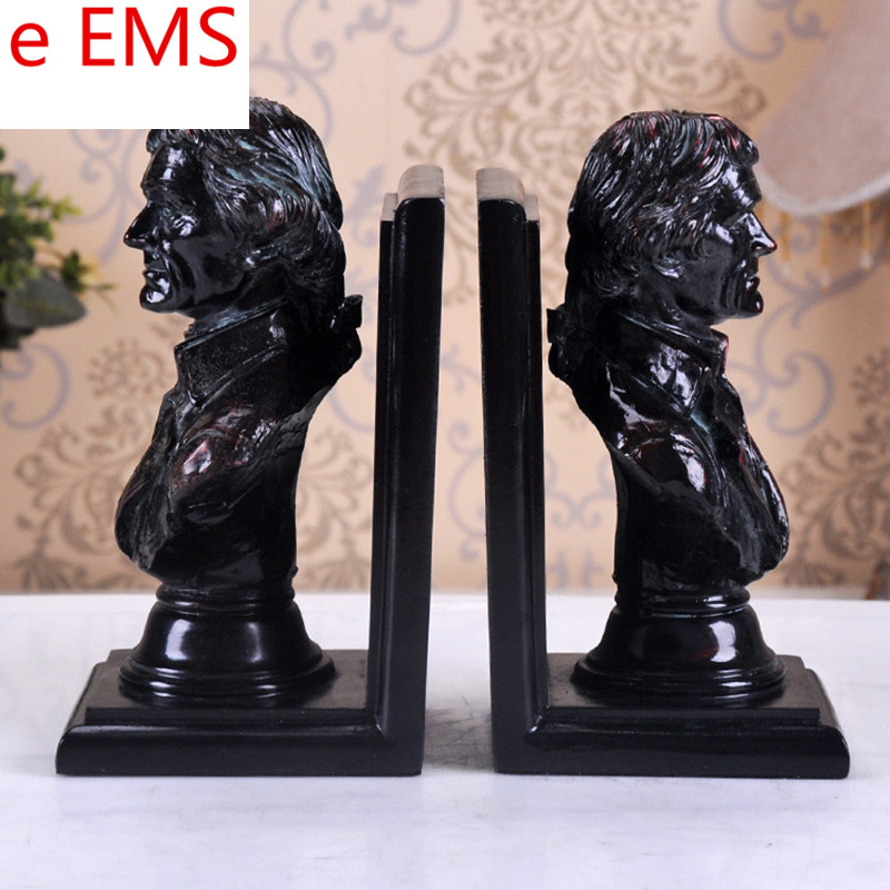 Gypsum Franklin D.Roosevelt Bookends Bust Theodore Roosevelt Statue POTUS Resin Craftwork Home Decorations Art Material L2339