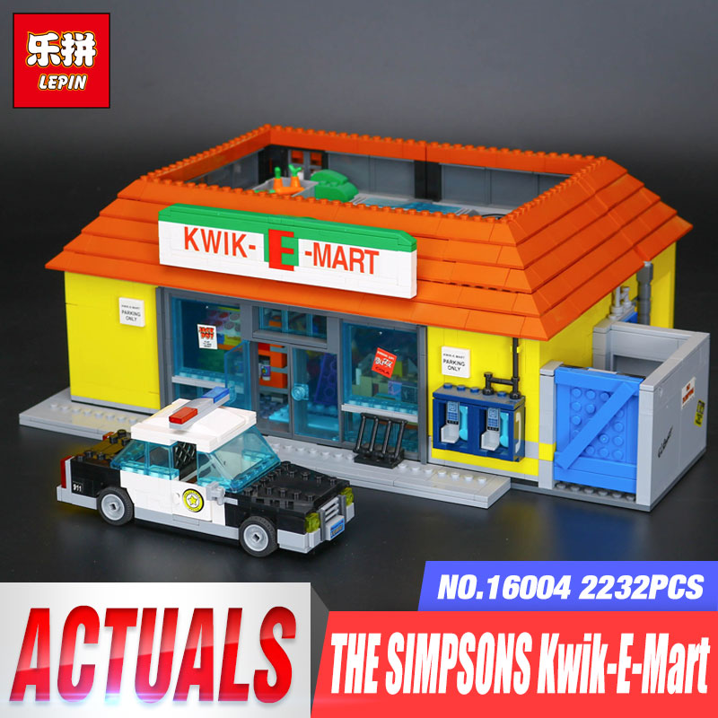 Lepin 16004 The Simpsons Kwik-E-Mart 2232Pcs Educational Building Blocks Set Bricks Kits Birthday Gifts Toys LegoINGys 71016