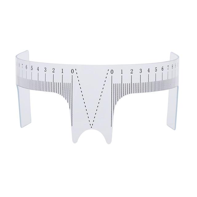 1PC Reusable Semi Permanent Eyebrow Ruler Eye Brow Measure Tool Eyebrow Guide Ruler Microblading Calliper Stencil Makeup