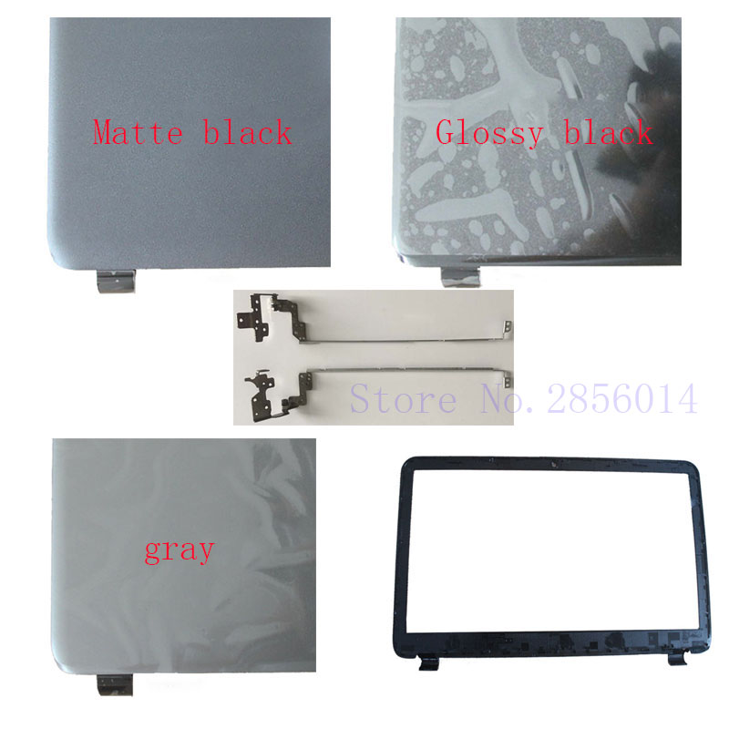 NEW Laptop Top LCD Back Cover/LCD Bezel Screen Cover/Hinges For HP 15-G000 15-G100 15-R000 15-R100 255 G3 case SPS 761695-001 new laptop for asus a53t k53u k53b x53u k53t k53t k53 x53b k53ta k53z top lcd plamrst cover bottom cover hinges speaker jack