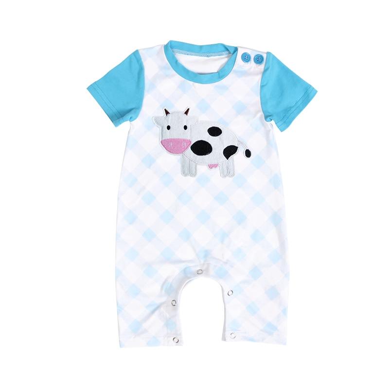 b4ccdd021a43 Kaiya Angel Fashion Baby Boy Summer Clothes Cows Tractor White ...