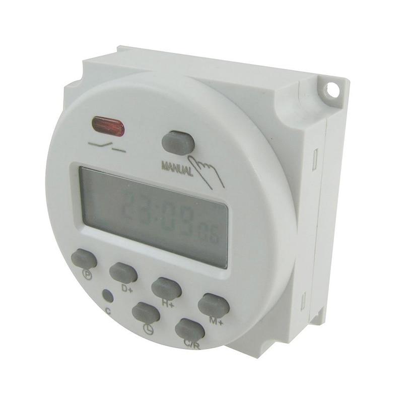 цена на LCD Power Digital 12V/24V/110V/220V AC/DC 7 Days Programmable Timer Time Switch And CN101A\CN102A Accessories --M25