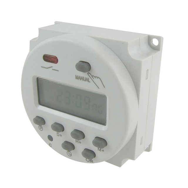 LCD Power Digital 12V/24V/110V/220V AC/DC 7 Days Programmable Timer Time Switch And CN101A\CN102A Accessories --M25