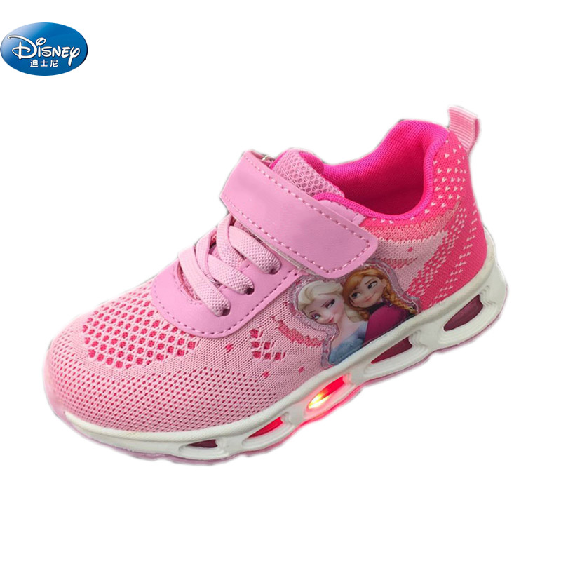 Soft Frozen Flash Luces Primavera Casual Otoño Led Disney Zapatos U66Onaq