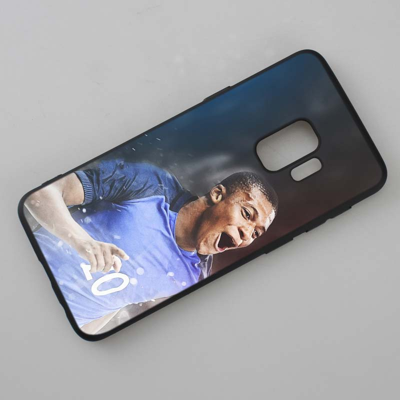 For Samsung Galaxy M10 M20 M30 Note 9 8 S10 S9 S8 Plus Lite S7 S6 Edge Black Silicone Phone Case Kylian Mbappe Style in Fitted Cases from Cellphones Telecommunications