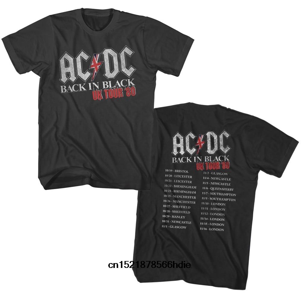 2019 Funny T Shirt Men Novelty Tshirt AC_DC T-Shirt - In Black UK Tour
