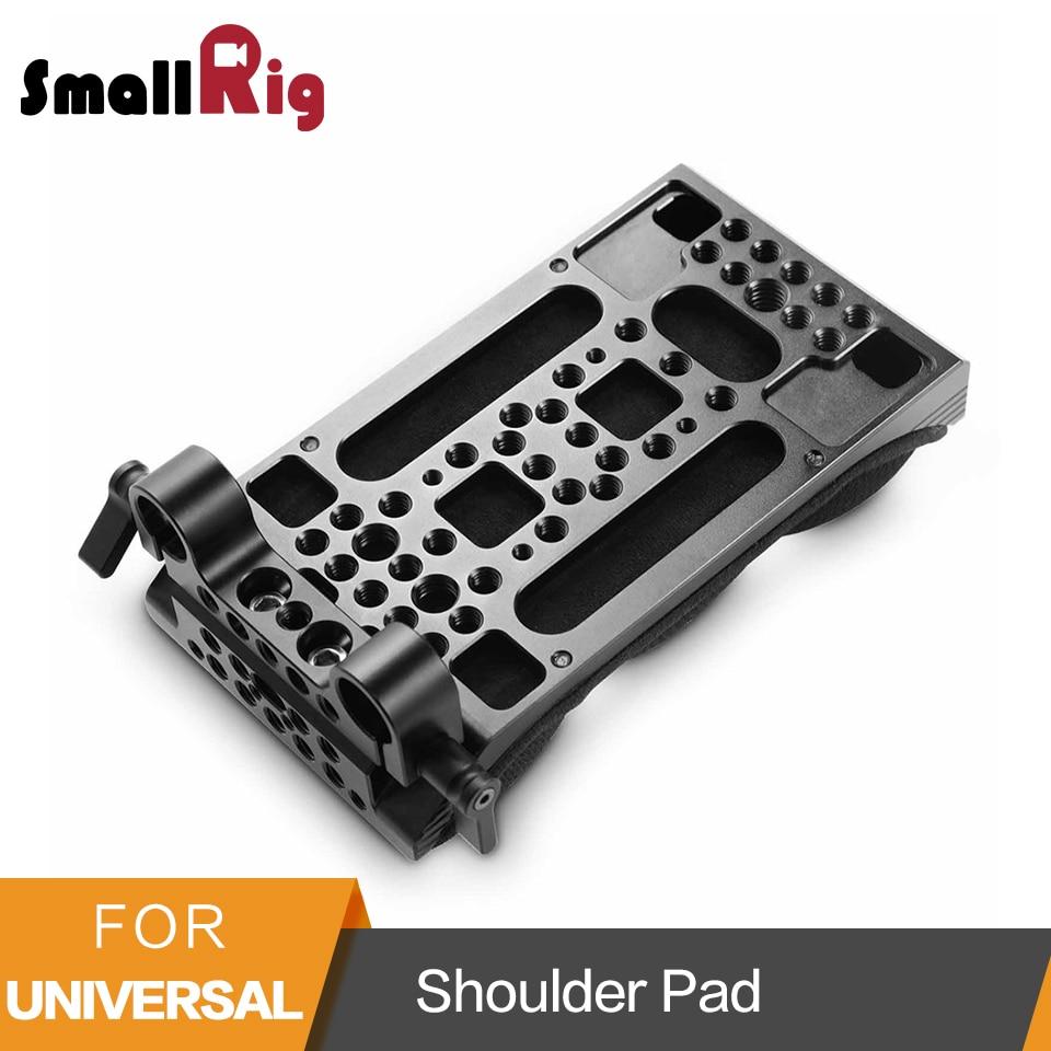 SmallRig Universale Spalla Pad Con Gomma Piuma di Memoria 15mm LWS Dual Morsetto di Rod per il Montaggio di Matte Box/Microfono- 2077