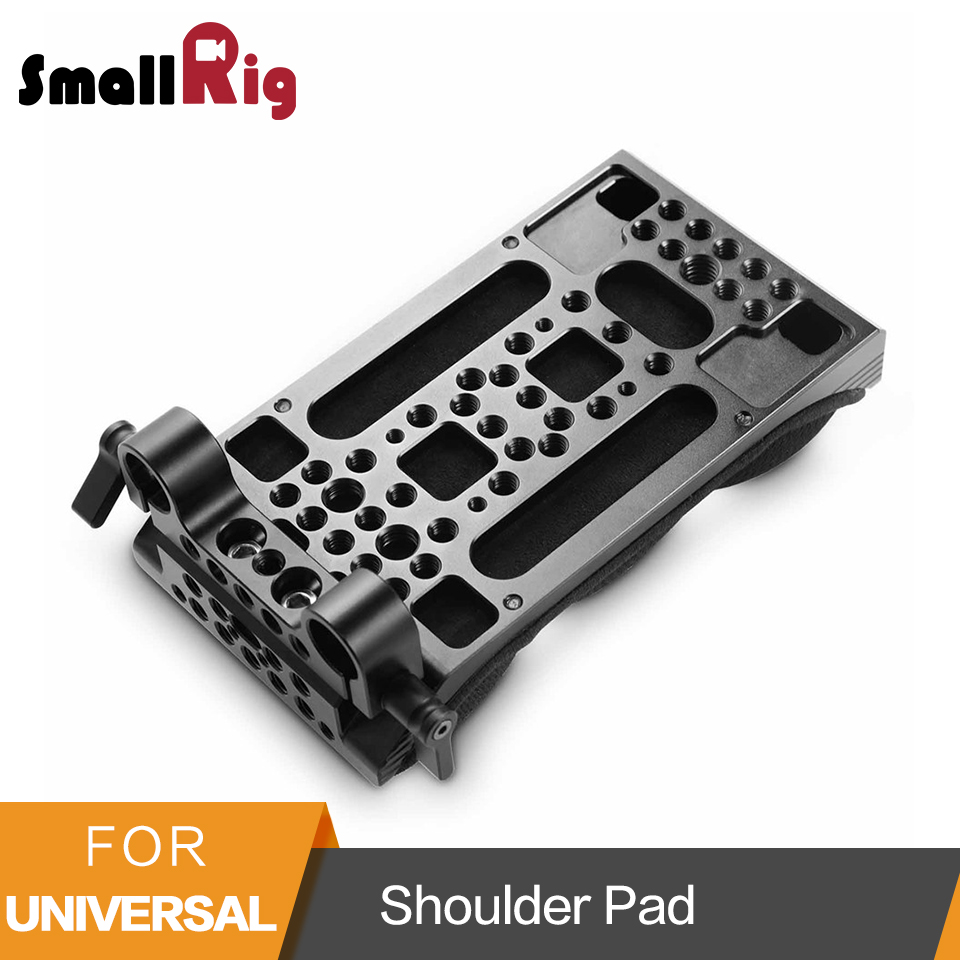 SmallRig Universel D'épaule Pad Avec Mémoire Mousse 15mm LWS Double Rod Clamp pour le Montage Mat Boîte/Microphone- 2077