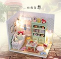 2016 Wooden Doll  House Handmade Toys With Furnitures Assembling DIY Miniature Model Kit Children Adult Beauty Gift  lazy  day