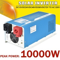 Power Inverter 10000w Max DC12V/24V/48V/72V to AC 220V Car Home Ourdoor Pure Sine Wave Solar Power Inverter UPS Charger Adapter