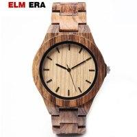 ELMERA мужские часы 2018 мужские спортивные часы Relogio Masculino деревянные часы мужские деревянные наручные часы