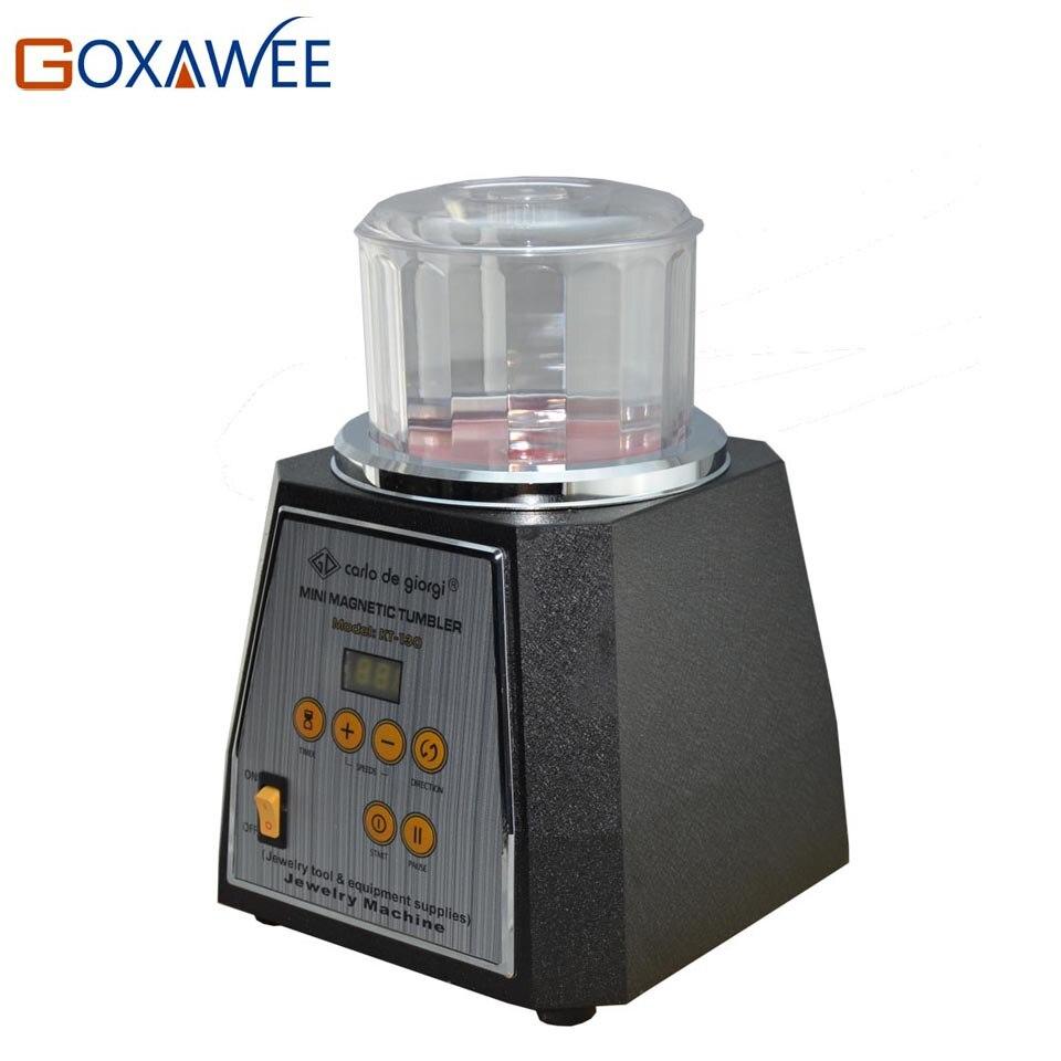 GOXAWEE KT 130 Magnetic Tumbler Polisher Jewelry Bench Polisher Finisher Mini Machine Magnetic Tumbler Jewelry Polishing Tools