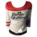 Cosplay Harley Quinn Roupas do Pai do Esquadrão Suicida Lil Monstro Camiseta Shorts Camisetas Tops Halloween Costume Tee