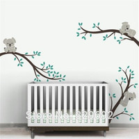Large size Koala Tree Branches DIY Wall Decals Wall Sticker Nursery Vinyls Baby Wall Stickers Wall Art For Kids Rooms tx 303
