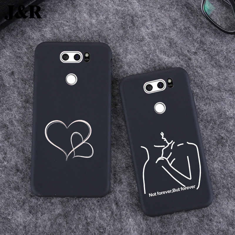 For LG V30 Case Cover Silicon For LG K10 K4 K8 2017 2018 Q6 Q8 G7 G6 G5 Soft Back Covers Matte Black Phone Bags Protective Cases