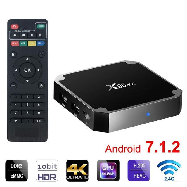 Android 7,1 tv BOX X96 Mini Smart tv Box 2GB16GB Amlogic S905W четырехъядерный 2,4 GHz WiFi 4 K HD медиаплеер онлайн IP tv set top box