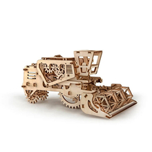 DIY Wooden Assembles Toy Mechanical Transmission Model Harvester Puzzle Toys Creative Gifts Birthday Gift Scrapbook Stamping Toy