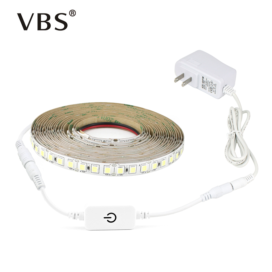 5M Flexible Led Strip With 2A Power Touch Dimmable Switch SMD 4040 Smart Led Strip Lights DC 12V Warm White/White Led Strips jrled 144w 10000lm 3500k 600 5730 smd led warm white light strips 2 pcs 5m dc 12v